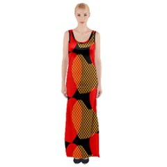 Heart Pattern Maxi Thigh Split Dress