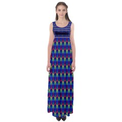 Honeycomb Fractal Art Empire Waist Maxi Dress