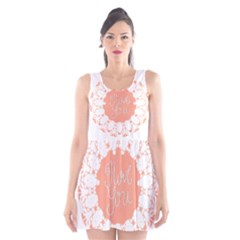 Mandala I Love You Scoop Neck Skater Dress