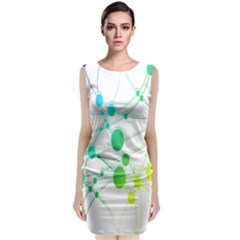 Network Connection Structure Knot Classic Sleeveless Midi Dress