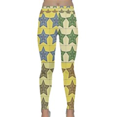 Pattern With A Stars  Classic Yoga Leggings