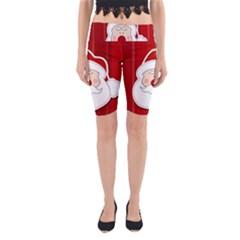 Santa Claus Xmas Christmas Yoga Cropped Leggings