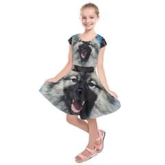 Keeshond Kids  Short Sleeve Dress