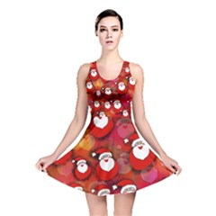 Seamless Santa Tile Reversible Skater Dress