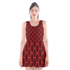 Snake Abstract Pattern Scoop Neck Skater Dress
