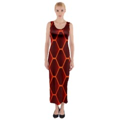 Snake Abstract Pattern Fitted Maxi Dress