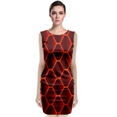 Snake Abstract Pattern Classic Sleeveless Midi Dress