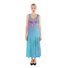 Water Droplets Sleeveless Maxi Dress