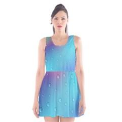 Water Droplets Scoop Neck Skater Dress
