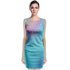 Water Droplets Classic Sleeveless Midi Dress