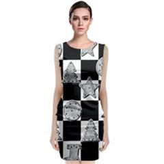 Xmas Checker Classic Sleeveless Midi Dress