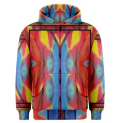 abstract butterfly montage Men s Zipper Hoodie