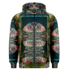 abstract garden montage Men s Zipper Hoodie