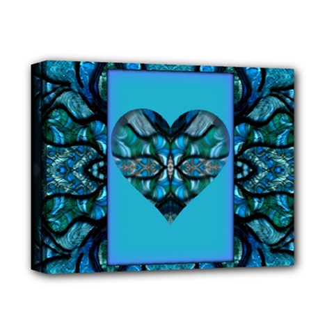 A Whirwind Heart Montage  by WBK: Deluxe Canvas 14  x 11  (Framed)