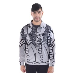 Cute christmas snowman  Wind Breaker (Men)