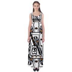 bw abstract 1: Empire Waist Maxi Dress