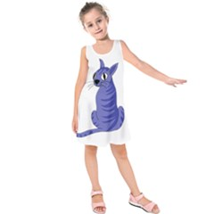Blue cat Kids  Sleeveless Dress