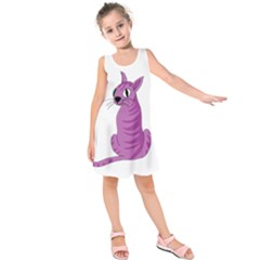 Purple Cat Kids  Sleeveless Dress