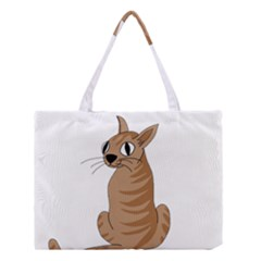 Brown Cat Medium Tote Bag