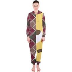 34174678 Xxl 1f644 1f644b 1s Hooded Jumpsuit (Ladies)