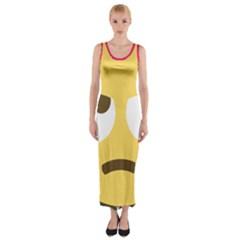 34174678 Xxl 1f644 1f644b 1s Fitted Maxi Dress