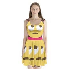 34174678 Xxl 1f644 1f644b 1s Split Back Mini Dress