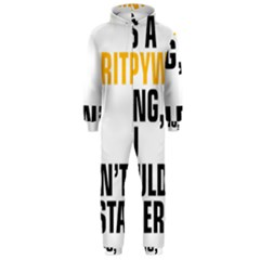 It a Copywriting Thing, you wouldn t understand Hooded Jumpsuit (Men)