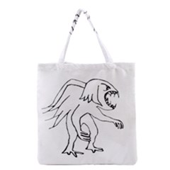 Monster Bird Drawing Grocery Tote Bag