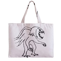 Monster Bird Drawing Medium Tote Bag