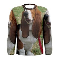 Basset Hound Sitting  Men s Long Sleeve Tee