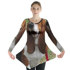 Basset Hound Sitting  Long Sleeve Tunic