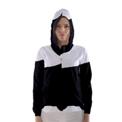 Cocker Spaniel Silo  Hooded Wind Breaker (Women)