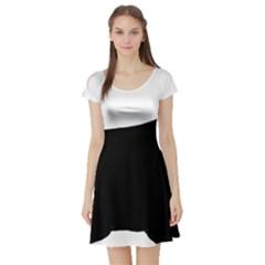 Cocker Spaniel Silo  Short Sleeve Skater Dress