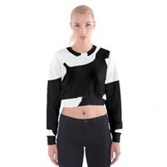 Cocker Spaniel Silo  Women s Cropped Sweatshirt