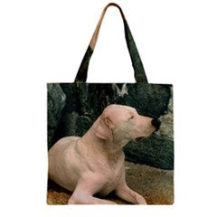 Dogo Argentino Laying  Zipper Grocery Tote Bag