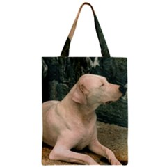 Dogo Argentino Laying  Zipper Classic Tote Bag