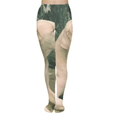 Dogo Argentino Laying  Women s Tights