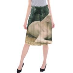 Dogo Argentino Laying  Midi Beach Skirt