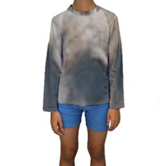 Whippet Brindle Eyes  Kids  Long Sleeve Swimwear