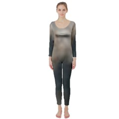 Whippet Brindle Eyes  Long Sleeve Catsuit
