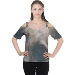 Whippet Brindle Eyes  Women s Cutout Shoulder Tee