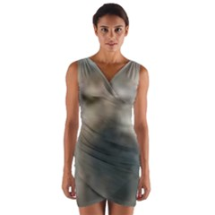 Whippet Brindle Eyes  Wrap Front Bodycon Dress