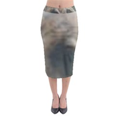 Whippet Brindle Eyes  Midi Pencil Skirt