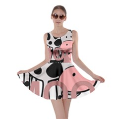 Moo Cow Cartoon  Skater Dress
