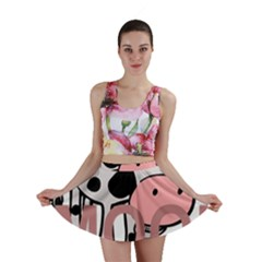 Moo Cow Cartoon  Mini Skirt