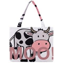 Moo Cow Cartoon  Mini Tote Bag