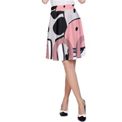 Moo Cow Cartoon  A-Line Skirt