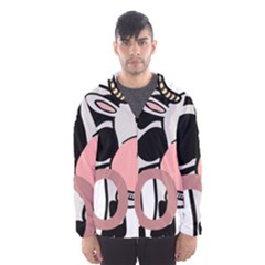 Moo Cow Cartoon  Hooded Wind Breaker (Men)