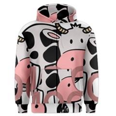 Moo Cow Cartoon  Men s Zipper Hoodie