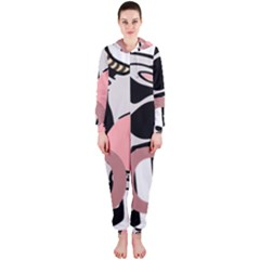Moo Cow Cartoon  Hooded Jumpsuit (Ladies)